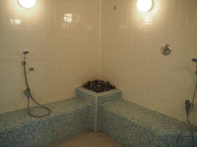 女性風呂のミストサウナ